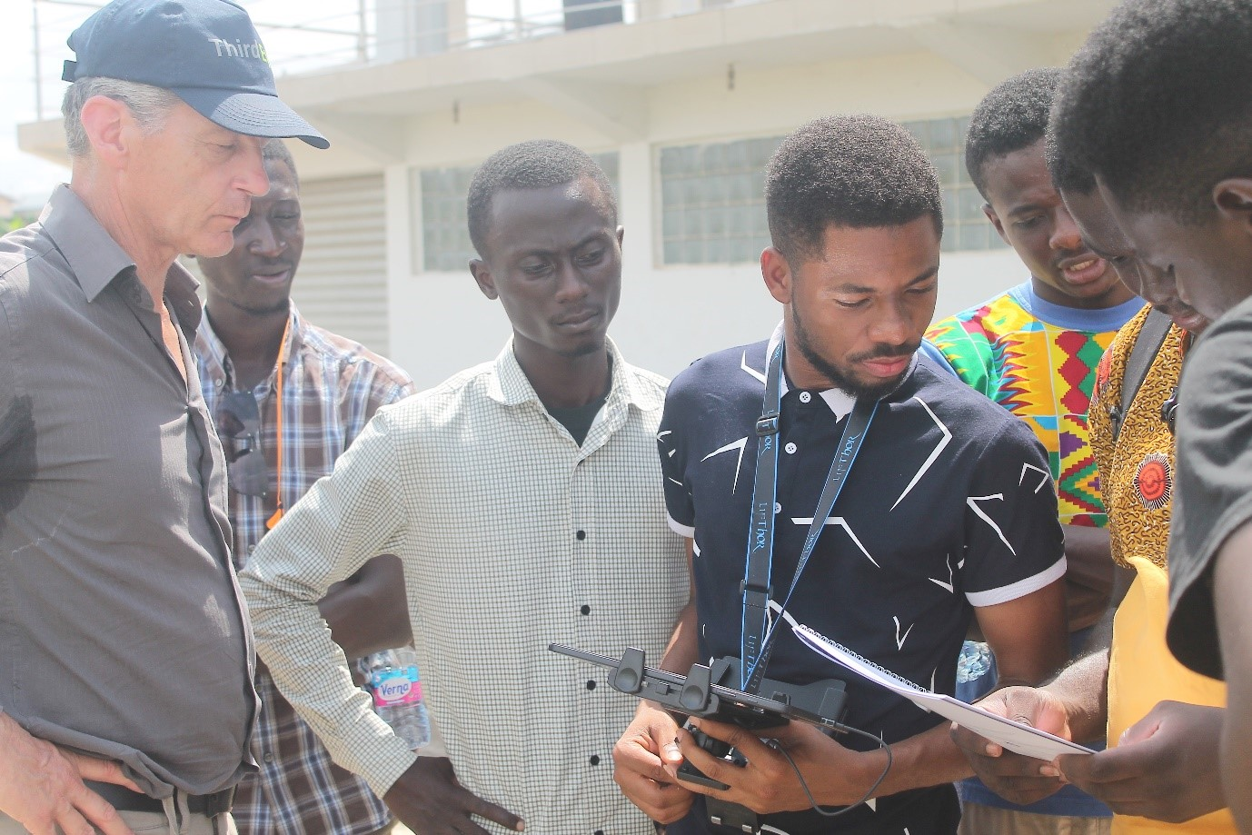TWIGA briefing on drone training in Kumasi